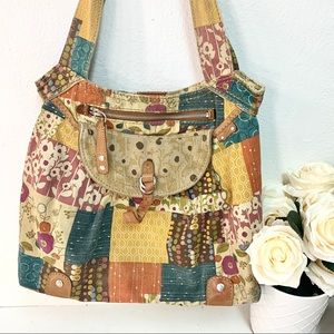 Fossil Bags - Vintage 🔑 Fossil quilted patches handbag
